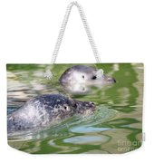 Two Seal Swimming Nature Scene Weekender Tote Bag