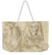 Two Seated Lions Weekender Tote Bag