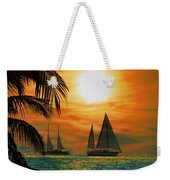 Two Ships Passing In The Night Weekender Tote Bag
