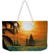 Two Ships Passing In The Night Weekender Tote Bag by Bill Cannon