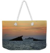 Two Ships Sunset Beach Cape May Nj Weekender Tote Bag