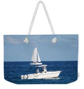 Two Ships That Pass Thru The Day Weekender Tote Bag