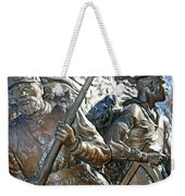 Two Soldiers Of The The African American Civil War Memorial -- The Spirit Of Freedom Weekender Tote Bag