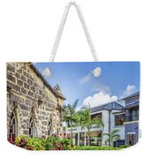 Two Solitudes, Holetown Church And Limegrove Mall, Barbados Weekender Tote Bag