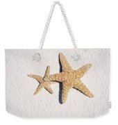 Two Starfish On The White Sand Weekender Tote Bag