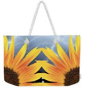 Two Sunflower Lightning Storm Weekender Tote Bag by James BO  Insogna
