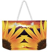 Two Sunflower Sunset Weekender Tote Bag