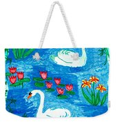 Two Swans Weekender Tote Bag by Sushila Burgess