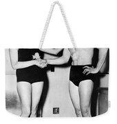 Two Swimming Stars Weekender Tote Bag