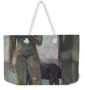 Two Tahitian Women On The Beach Weekender Tote Bag