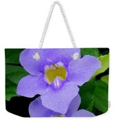 Two Thunbergia With Dew Drops Weekender Tote Bag