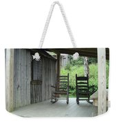 Two Tranquil Rocking Chairs In The Mountains Weekender Tote Bag