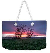 Two Trees In A Purple Sunset Weekender Tote Bag