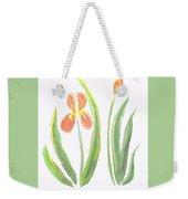 Two Iris II Watercolor Weekender Tote Bag