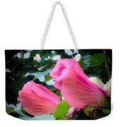 Two Unopen Pink Hibiscus Flowers Weekender Tote Bag