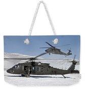 Two U.s. Army Uh-60 Black Hawk Weekender Tote Bag