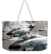 Two U.s. Navy T-2c Buckeye Aircraft Weekender Tote Bag