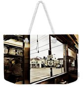 Two Views Inside The Orchid Diner Weekender Tote Bag