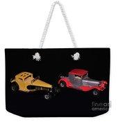 Two Vintage Cars Models  Weekender Tote Bag