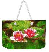 Two Waterlily Flower Weekender Tote Bag