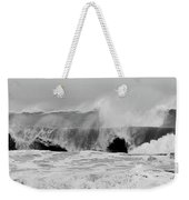 Two Waves Are Better Than One - Jersey Shore Weekender Tote Bag by Angie Tirado