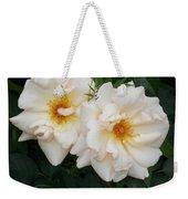 Two White Flowers Weekender Tote Bag
