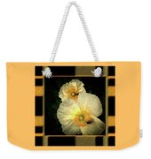 Two Honey Bees Two White Flowers Matted Weekender Tote Bag