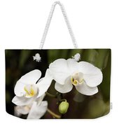 Two White Orchids Weekender Tote Bag