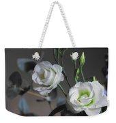 Two White Roses Weekender Tote Bag