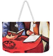 Two Women At The Table By August Macke Weekender Tote Bag