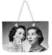 Two Women Gossiping, C.1950-60s Weekender Tote Bag