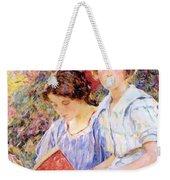 Two Women Reading Weekender Tote Bag
