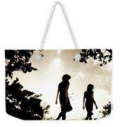 Two Women Walking Weekender Tote Bag by Clayton Bastiani
