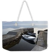 Two Wooden Boats In A Little Bay In The Morning Weekender Tote Bag