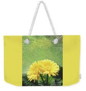 Two Yellow Gerber Daisies Weekender Tote Bag