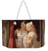 Two Young Ladies At The Window Weekender Tote Bag