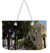 Two Young Women In Flamenco Dresses Walking Along Christopher Co Weekender Tote Bag