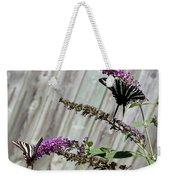 Two Zebra Swallowtail Butterflies Weekender Tote Bag