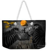 Two Zebras And Macaw Weekender Tote Bag