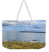 Tynemouth Piers And Lighthouses Panorama Weekender Tote Bag