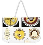 Types Of Clockfaces And Mechanism, 1809 Weekender Tote Bag