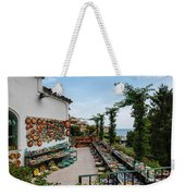 Typical Shop Display Of Ceramics For Sale In Positano, Amalfi Co Weekender Tote Bag