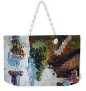 Typical Street Of Granada. Original Acrylic On Paper Weekender Tote Bag