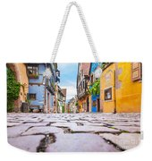 half-timbered houses, Riquewihr, Alsace, France   Weekender Tote Bag
