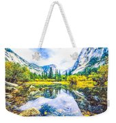 Typical View Of The Yosemite National Park Weekender Tote Bag