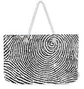 Typical Whorl Pattern In 1900 Weekender Tote Bag