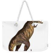 Tyrannosaurus Rex On White Weekender Tote Bag