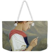 Tyrolean Girl Contemplating A Crucifix Weekender Tote Bag