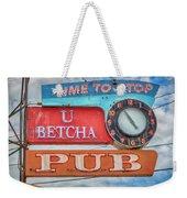 U Betcha Pub Weekender Tote Bag