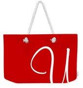 U In White Simple Script Weekender Tote Bag